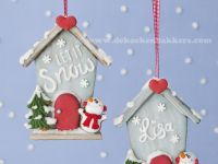 2D Gingerbread House Christmas Ornaments