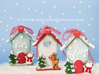 2D Cookie House Christmas Ornaments