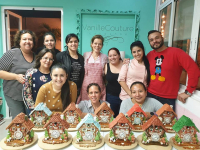 Gingerbread Cuckoo Clock Class at Vanilla Couture cakeshop in Mexico City