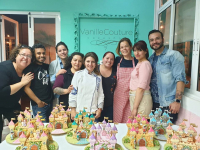 Gingerbread Castle Class at Vanilla Couture cakeshop in Mexico City