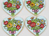 Bloemen voor juf koekjes