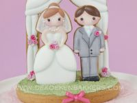 3D Cookie Wedding Cake Topper