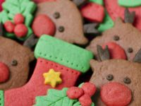 Coloured dough Christmas cookies