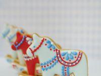 3D Dala horse cookies