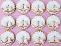 Spring bird cookies